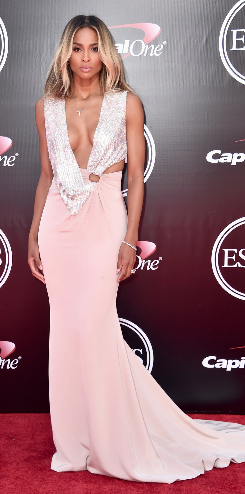 LOS ANGELES, CA - JULY 13: Recording artist Ciara attends the 2016 ESPYS at Microsoft Theater on July 13, 2016 in Los Angeles, California. (Photo by Alberto E. Rodriguez/Getty Images)