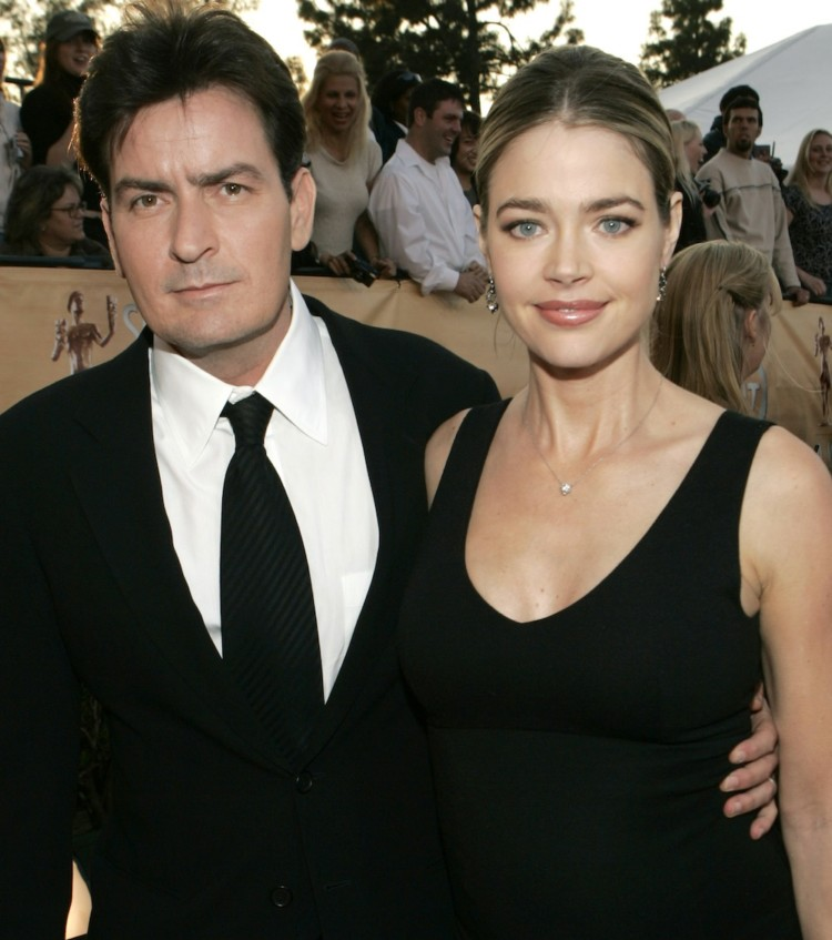 Charlie Sheen and Denise Richards 8505_KM10_23.jpg at the Shrine Auditorium in Los Angeles, California (Photo by Kevin Mazur/WireImage)